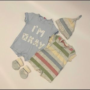 Baby boy rompers one-piece set